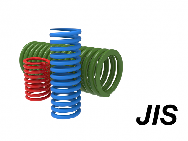 Coil spring acc. to JIS – round
